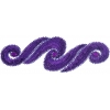 Motif Sequin/beads 29.5x9.5cm Scroll Purple with matching Stone
